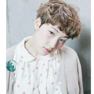 ストリート フェミニン 外国人風 ショート ヘアスタイルや髪型の写真・画像