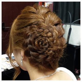 ヘアアレンジ 簡単ヘアアレンジ 大人かわいい フェミニン ヘアスタイルや髪型の写真・画像