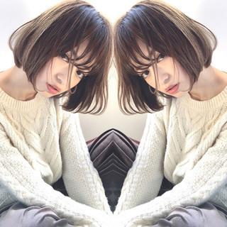 色気 ボブ ピュア 小顔 ヘアスタイルや髪型の写真・画像