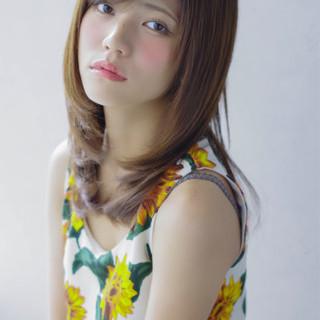 ミディアム 大人かわいい ゆるふわ フェミニン ヘアスタイルや髪型の写真・画像