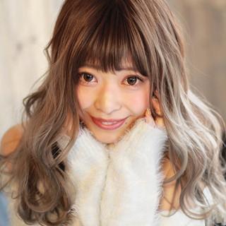 セミロング バレイヤージュ ストリート 外国人風カラー ヘアスタイルや髪型の写真・画像