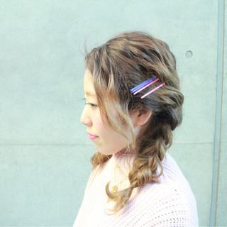 外国人風 ショート ゆるふわ 簡単ヘアアレンジ ヘアスタイルや髪型の写真・画像