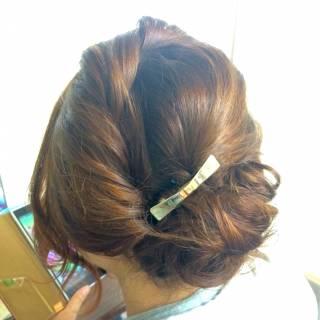 ヘアアレンジ ロング ルーズ 結婚式 ヘアスタイルや髪型の写真・画像