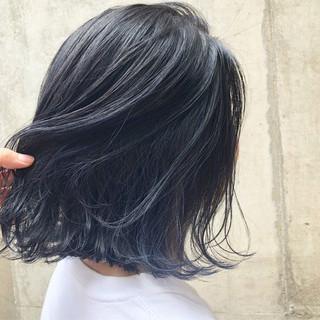 インナーカラー ネイビー 外国人風カラー ストリート ヘアスタイルや髪型の写真・画像
