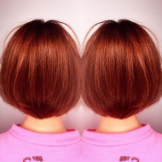 ショート ボブ フェミニン ガーリー ヘアスタイルや髪型の写真・画像