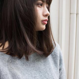 大人女子 ミディアム ストリート 大人かわいい ヘアスタイルや髪型の写真・画像