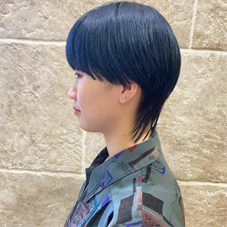ベリーショート ナチュラルウルフ マッシュウルフ ウルフカット ヘアスタイルや髪型の写真・画像