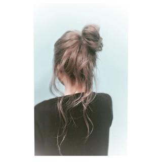 グラデーションカラー ナチュラル ロング ヘアアレンジ ヘアスタイルや髪型の写真・画像