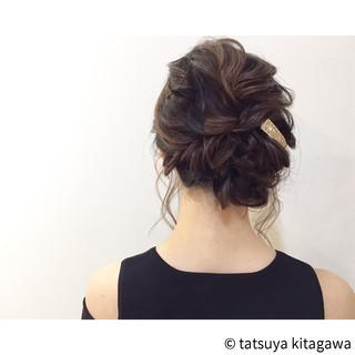 フェミニン 花嫁 アッシュ 外国人風 ヘアスタイルや髪型の写真・画像