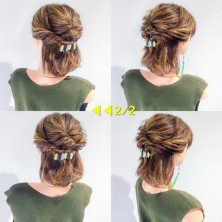 結婚式 ヘアアレンジ デート 簡単ヘアアレンジ ヘアスタイルや髪型の写真・画像