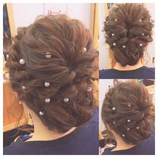 ショート フェミニン ミディアム 結婚式 ヘアスタイルや髪型の写真・画像
