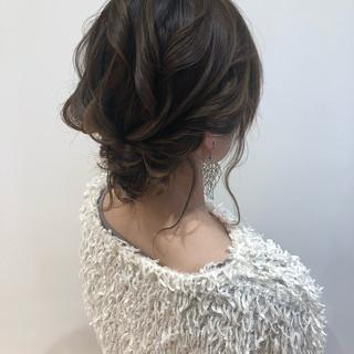 まとめ髪 シニヨン 結婚式 お呼ばれ ヘアスタイルや髪型の写真・画像