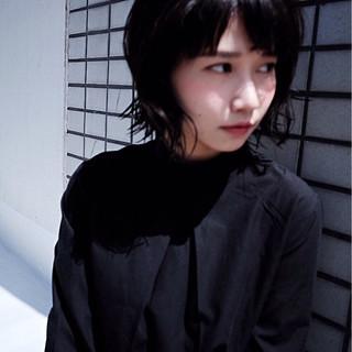 ナチュラル ブラウン 黒髪 ショート ヘアスタイルや髪型の写真・画像
