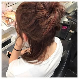 簡単ヘアアレンジ ミディアム ガーリー 女子会 ヘアスタイルや髪型の写真・画像