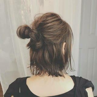 デート 大人かわいい ヘアアレンジ ゆるふわ ヘアスタイルや髪型の写真・画像