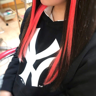 エクステ ピンク 黒髪 大人可愛い ヘアスタイルや髪型の写真・画像