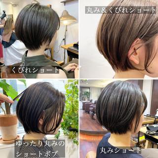黒髪 ショート アウトドア ナチュラル ヘアスタイルや髪型の写真・画像