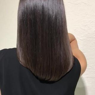 ナチュラル オフィス グレージュ 暗髪 ヘアスタイルや髪型の写真・画像