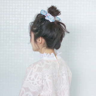 ショート ガーリー ヘアアレンジ 簡単ヘアアレンジ ヘアスタイルや髪型の写真・画像