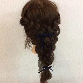 ロング 大人女子 ポニーテール 結婚式 ヘアスタイルや髪型の写真・画像
