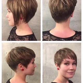 ショート モード 外国人風 前髪あり ヘアスタイルや髪型の写真・画像