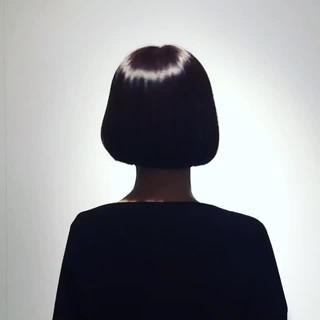 黒髪 ニュアンス 切りっぱなし 色気 ヘアスタイルや髪型の写真・画像