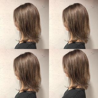 ボブ 透明感カラー ハイライト ナチュラル ヘアスタイルや髪型の写真・画像
