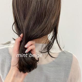 ロブ ナチュラル ヘアアレンジ ヘアカラー ヘアスタイルや髪型の写真・画像