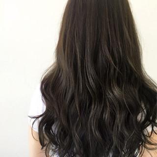 暗髪 ロング ゆるふわ くせ毛風 ヘアスタイルや髪型の写真・画像
