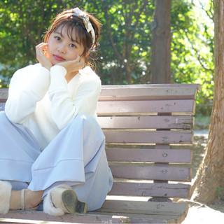ヘアアクセ 色気 冬 ショート ヘアスタイルや髪型の写真・画像