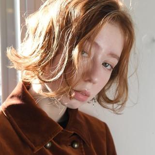 外国人風 ボブ パーマ ナチュラル ヘアスタイルや髪型の写真・画像