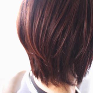 ミディアム ボブ ピンク 大人女子 ヘアスタイルや髪型の写真・画像