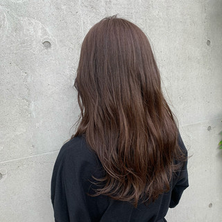 ミルクティーベージュ ミルクティーグレージュ ロング ミルクティーブラウン ヘアスタイルや髪型の写真・画像