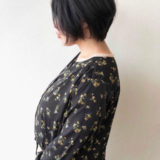 黒髪ショート 大人ショート 黒髪 ショートボブ ヘアスタイルや髪型の写真・画像