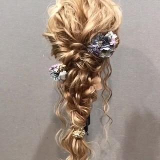 ショート セミロング 結婚式 ヘアアレンジ ヘアスタイルや髪型の写真・画像
