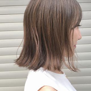 ハイライト 秋 ボブ リラックス ヘアスタイルや髪型の写真・画像