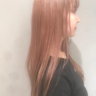 外国人風カラー 抜け感 ピンク 透明感 ヘアスタイルや髪型の写真・画像