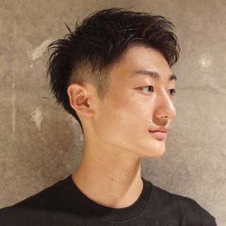 刈り上げ ツーブロック メンズ ショート ヘアスタイルや髪型の写真・画像