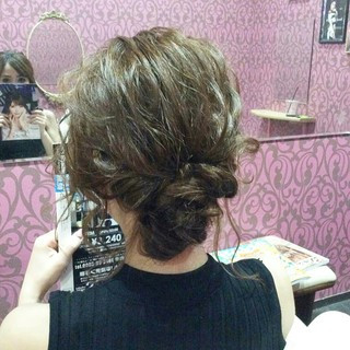 エレガント 上品 ミディアム 結婚式 ヘアスタイルや髪型の写真・画像