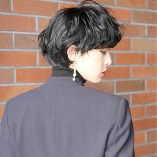 黒髪 マッシュ かっこいい モード ヘアスタイルや髪型の写真・画像