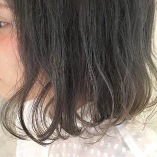 前髪あり グラデーションカラー ボブ アッシュ ヘアスタイルや髪型の写真・画像