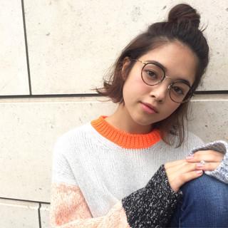 外国人風 簡単ヘアアレンジ グラデーションカラー ショート ヘアスタイルや髪型の写真・画像
