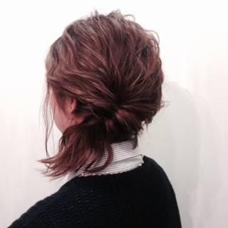 簡単ヘアアレンジ ヘアアレンジ アップスタイル ショート ヘアスタイルや髪型の写真・画像