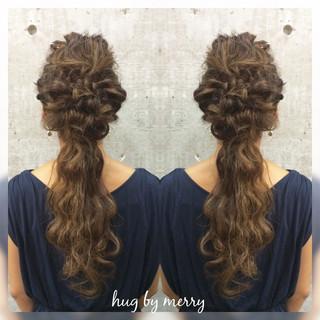 ゆるふわ ヘアアレンジ ロング ハイライト ヘアスタイルや髪型の写真・画像