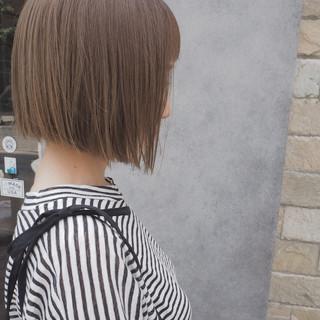 透明感 秋 ナチュラル ボブ ヘアスタイルや髪型の写真・画像