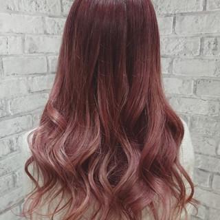 ロング ガーリー 外国人風カラー デート ヘアスタイルや髪型の写真・画像