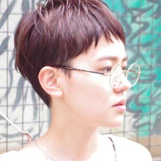 ピュア 外国人風 ウェットヘア ハイライト ヘアスタイルや髪型の写真・画像