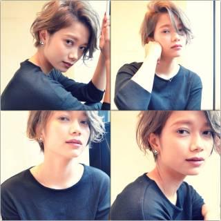 ショート 秋 ラフ モード ヘアスタイルや髪型の写真・画像
