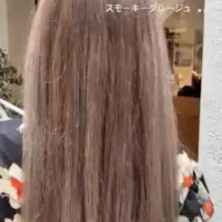 ゆるふわ ストレート 艶髪 エレガント ヘアスタイルや髪型の写真・画像