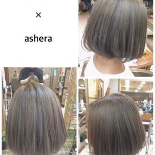 グレージュ 3Dカラー ハイライト 外国人風カラー ヘアスタイルや髪型の写真・画像